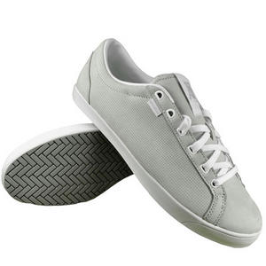 View Item K-Swiss All Court Tennis Leather Trainers Grey/White Mens Size