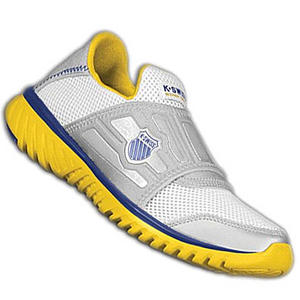 View Item K-Swiss Blade Light Running Trainers Silver/Yellow Womens Size