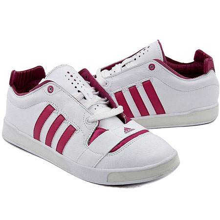 Adidas A/F Classic Leather Trainers White/Magenta Womens Size Preview