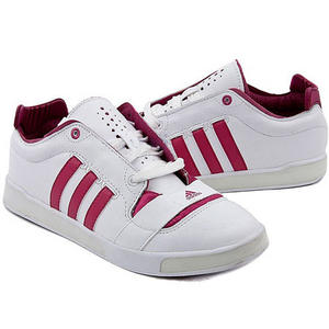 View Item Adidas A/F Classic Leather Trainers White/Magenta Womens Size