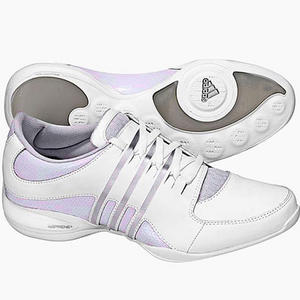 View Item Adidas Workout Motion Leather Trainers White/Grey Womens Size