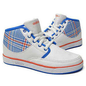 View Item Adidas Sheridan Mid Trainers White/Blue/Orange Mens Size
