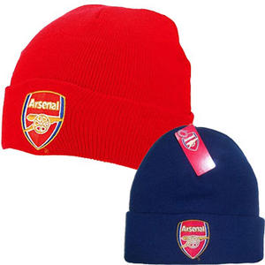View Item Arsenal Football Club Bronx Cuffed Knit Beanie Hat Mens One Size