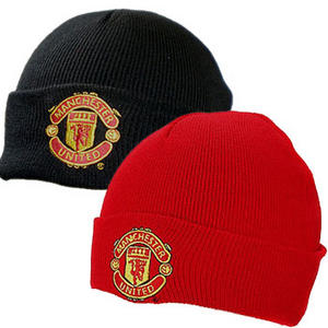 Manchester Utd Football Club Bronx Cuffed Knit Beanie Hat Mens One Size