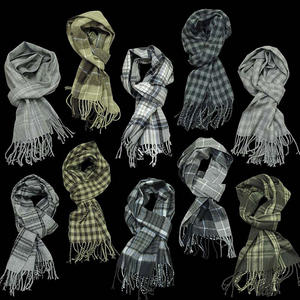 View Item Terraces Soft Tartan Checkered Plaid Scarf Scarves Mens One Size