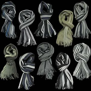 View Item Prepster Soft Feel Striped Winter Scarf Scarves Mens One Size