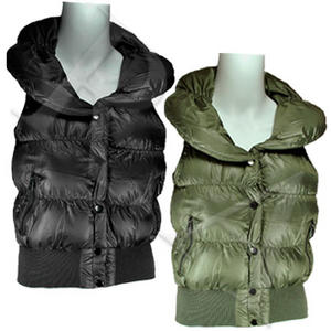View Item Padded Womens Collared Gilet Body Warmer Jacket