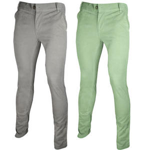 Skinny Slim Carrot Fit Chino Trousers Pants Mens Waist Size