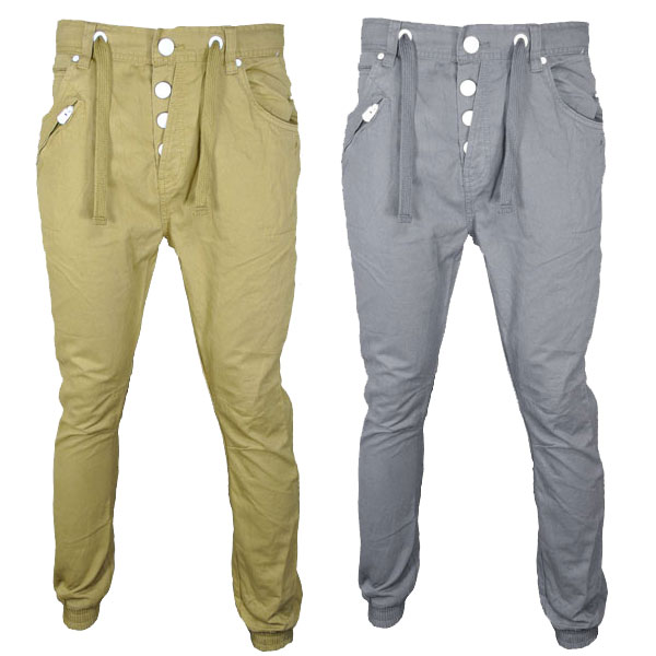 55Soul Cargo Carrot Fit Chino Trousers Pants Mens Waist Size Preview