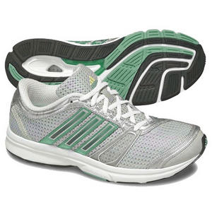 View Item Adidas Haruna Running Trainers Grey/Green Womens Size