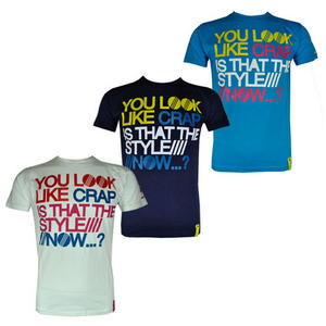 View Item Soul Star You Look Like a Crap is That Style Now Slogan T-Shirt Mens Size