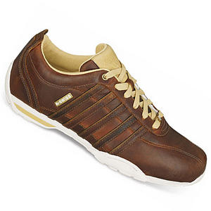 View Item K-Swiss Arvee 1.5 Low Leather Trainers Brown/Antq-White Mens Size
