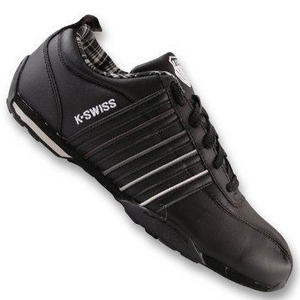 K-Swiss Arvee Trainers Black/Dove/White Junior Boys Size