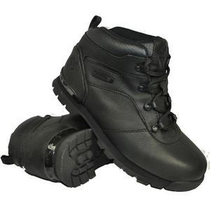 Timberland Splitrock Leather Boots Black Junior Boys Size