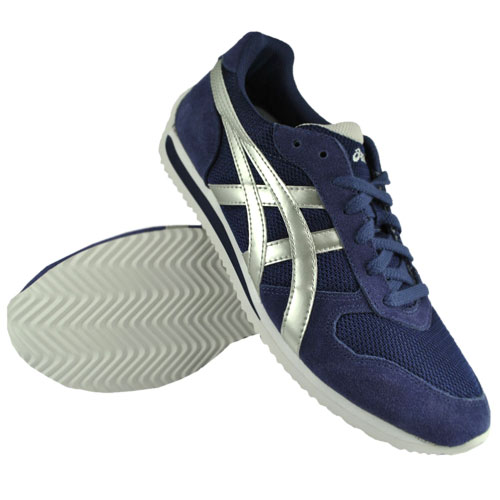Asics Kirai Syn Trainers Shoes Navy-Blue/Silver Mens Size Enlarged Preview