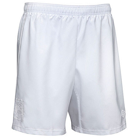 Manchester City Home FC Football Shorts White 2010/11 Boys Size