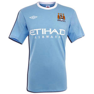 View Item Manchester City FC 2009/10 Home Short-Sleeve Jersey Shirt Mens Size