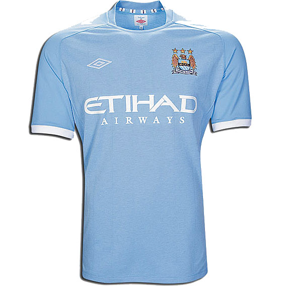 Manchester City FC 2010/11 Home Short Sleeve Jersey Shirt Womens Size Enlarged Preview