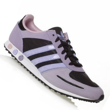 Adidas Originals LA Sleek Trainers Purple/Black Womens Size Preview