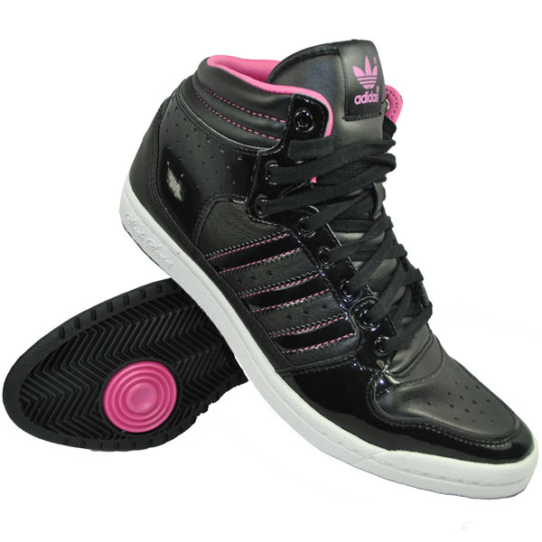 Adidas Originals Decade High Sleek Trainers Black/Pink Womens Size Preview