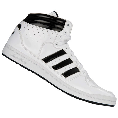 Adidas Originals Decade High Sleek Trainers Patent-White/Black Womens Size Preview
