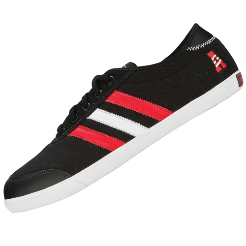 Adidas Originals P-Sole Canvas Trainers Black/White/Red Mens Size Preview