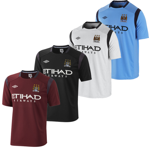 Manchester City FC Short Sleeve Training Jersey T-Shirt Mens Size Enlarged Preview