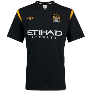 View Item Manchester City FC 2009/10 Away Short Sleeve Jersey Shirt Boys Size