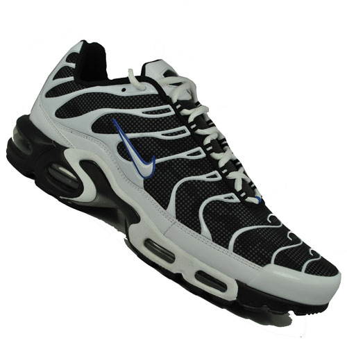Nike Air Max Plus Tuned TN Trainers Black/White Mens Size Enlarged Preview