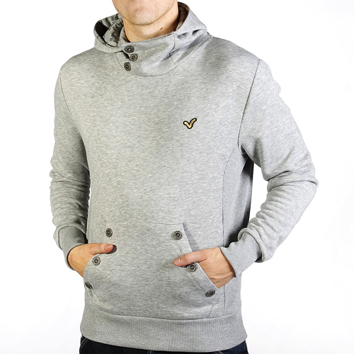 Voi Jeans Blitzen Hooded Sweatshirt Hooded Top Grey Marl Mens Size Preview