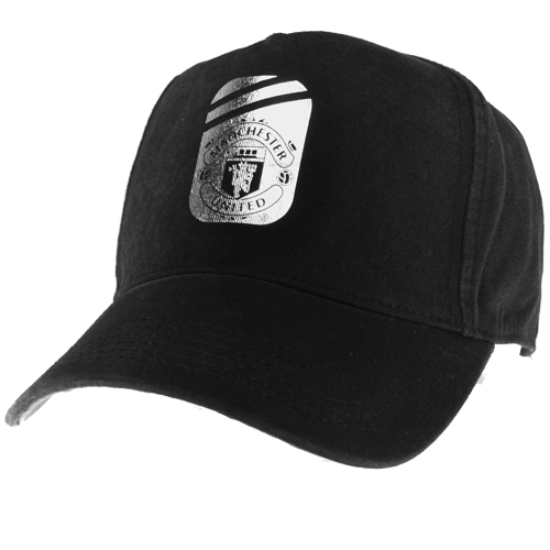 Manchester United FC Juniors Silver Foil Baseball Cap Black/Silver Boys One Size Preview