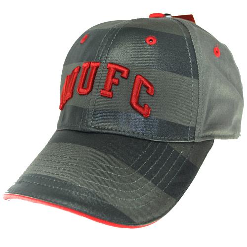 Manchester United FC Juniors Stripe Cap Baseball Cap Charcoal/Red Boys One Size Preview