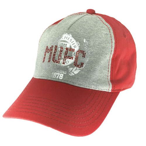 Manchester United FC Juniors I Love MUFC Baseball Cap Red/Grey Boys One Size Preview