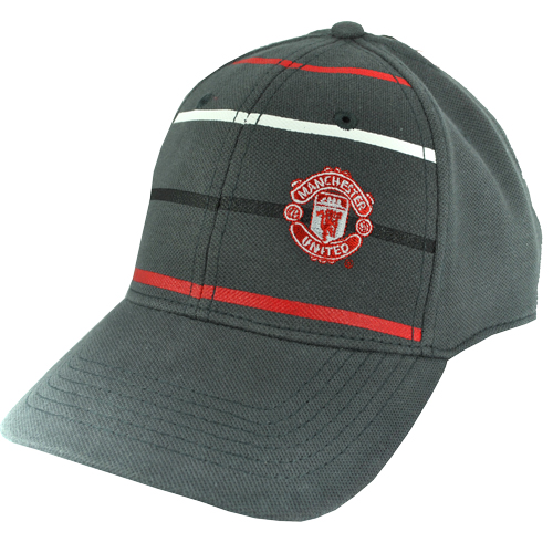 Manchester United FC Repeat Stripe Baseball Cap Grey/Red/White Mens One Size Preview