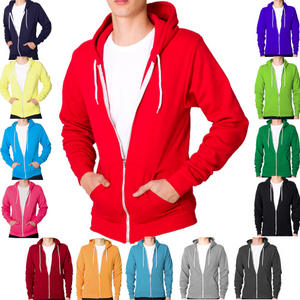 View Item Raiken Apparel Flex Fleece Full Zip Hoody Hooded Top Hoodie Mens Size
