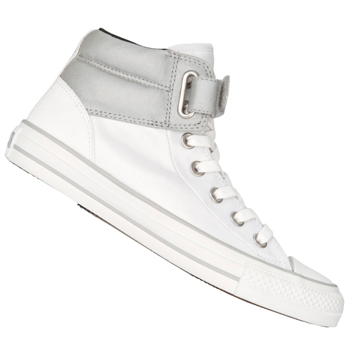 Converse CT AS Loopback HI Canvas Trainers White/Grey Womens Size Preview