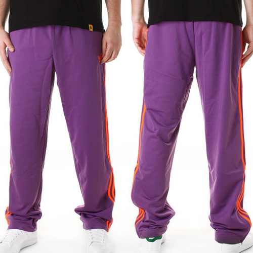 Adidas Adicolor Firebird Fleece Jog Bottoms Pants Trouser Purple Mens Size