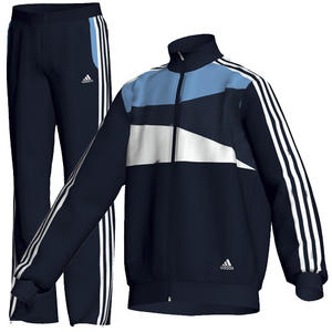 View Item Adidas Training Full Tracksuit Top & Bottom Blue/White Junior Boys Size