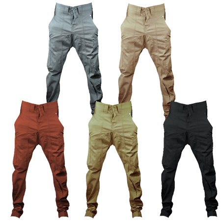 Soul Star Drop Crotch Carrot Fit Cuffed Chinos Jeans Trousers Junior Boys Size