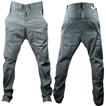 Soul-Star-Drop-Crotch-Carrot-Fit-Cuffed-Chinos-Jeans-Trousers-Junior-Boys-Size
