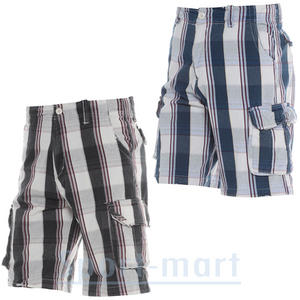 View Item Soul Star Twill 111 Checkered  Summer Cargo Combat Shorts Mens Size