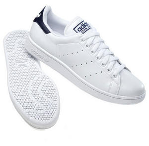 View Item Adidas Originals Stan Smith 2 Leather Trainers White/Navy Mens Size