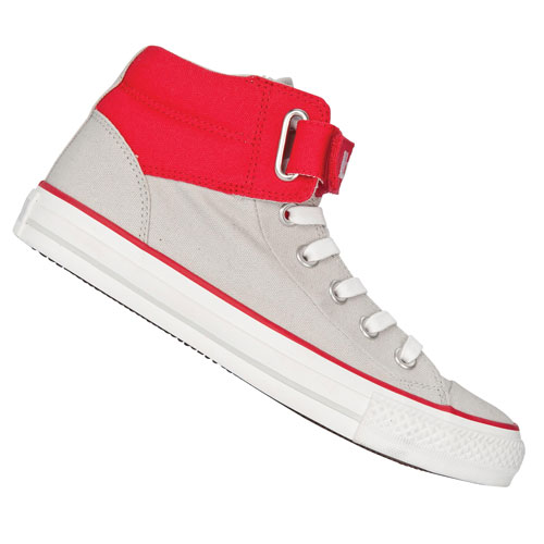 Converse CT AS Loopback HI Canvas Trainers Grey/Red Mens Size Enlarged Preview