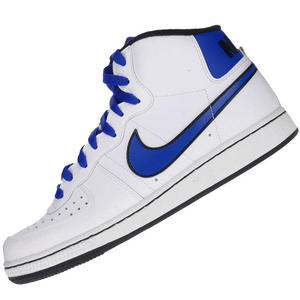 View Item Nike Legend Mid Leather Trainers White/Blue/Black Mens Size