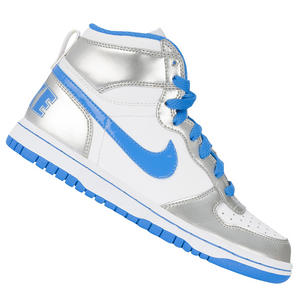 Nike Big High LE Trainers White/Blue/Silver Juniors Boys Size