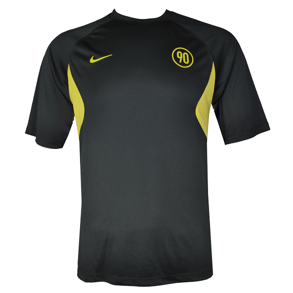 Nike Dry Fit Total 90 T Shirt Black Yellow Mens Size Ebay