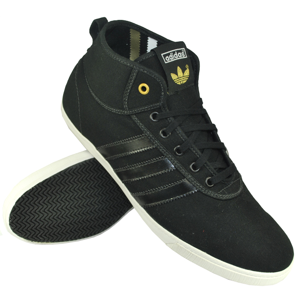Adidas Originals P-Sole Mid Pumps Trainers Black/White Mens Size Enlarged Preview