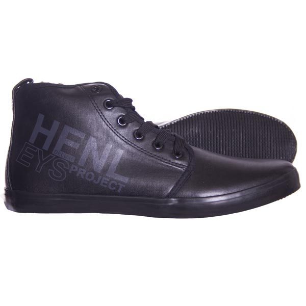 Henleys Parr Mid Trainers Pumps Black Mens Size Preview