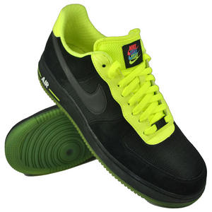 View Item Nike Air Force 1 '07' Trainers Black/Flow Yellow Mens Size