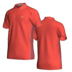 View Item Adidas Essential SF Sports Polo Shirt Light Red Mens Size